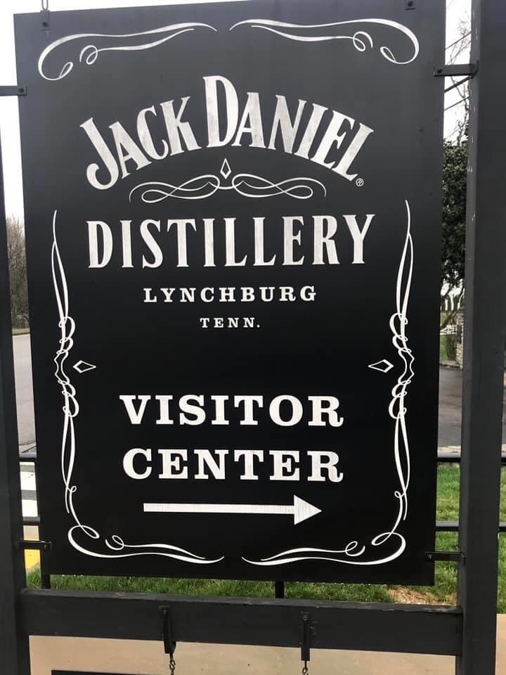 jack daniel's welcome sign