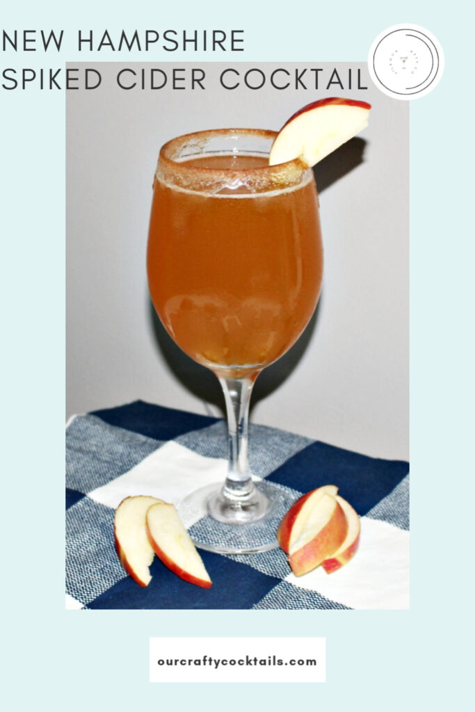 new hampshire spiked apple cider cocktail