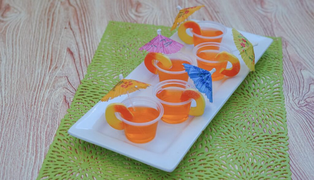 jello shots peach