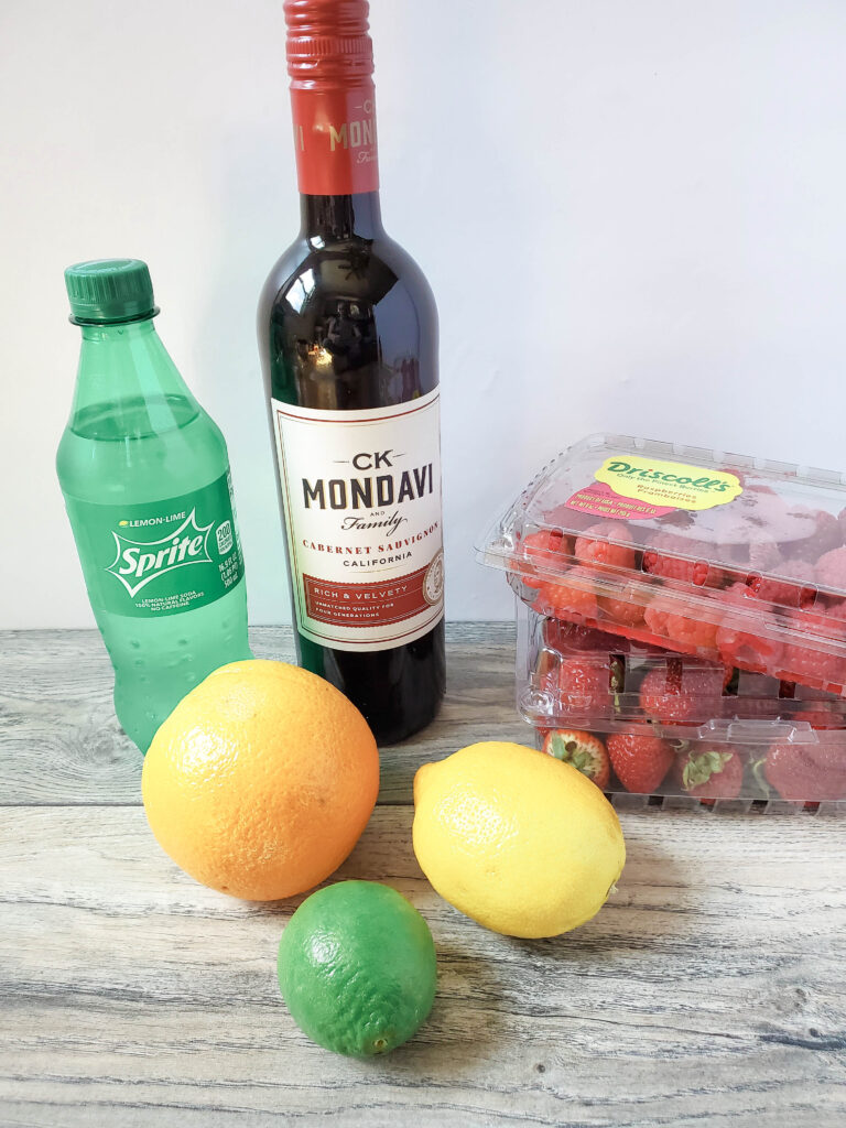 ingredients for red wine sangria