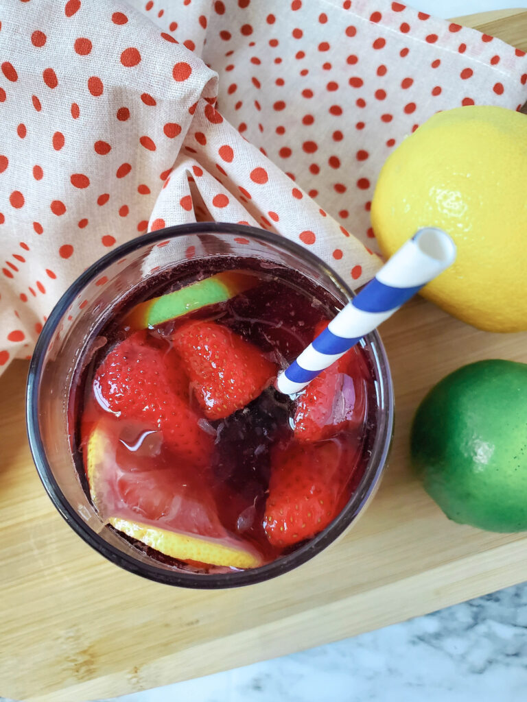 red wine sangria loaded with fruit