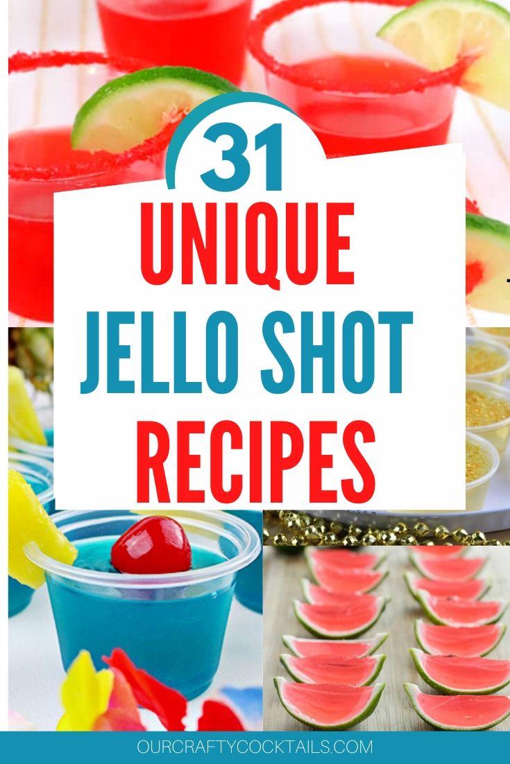 Jello shot recipes collage