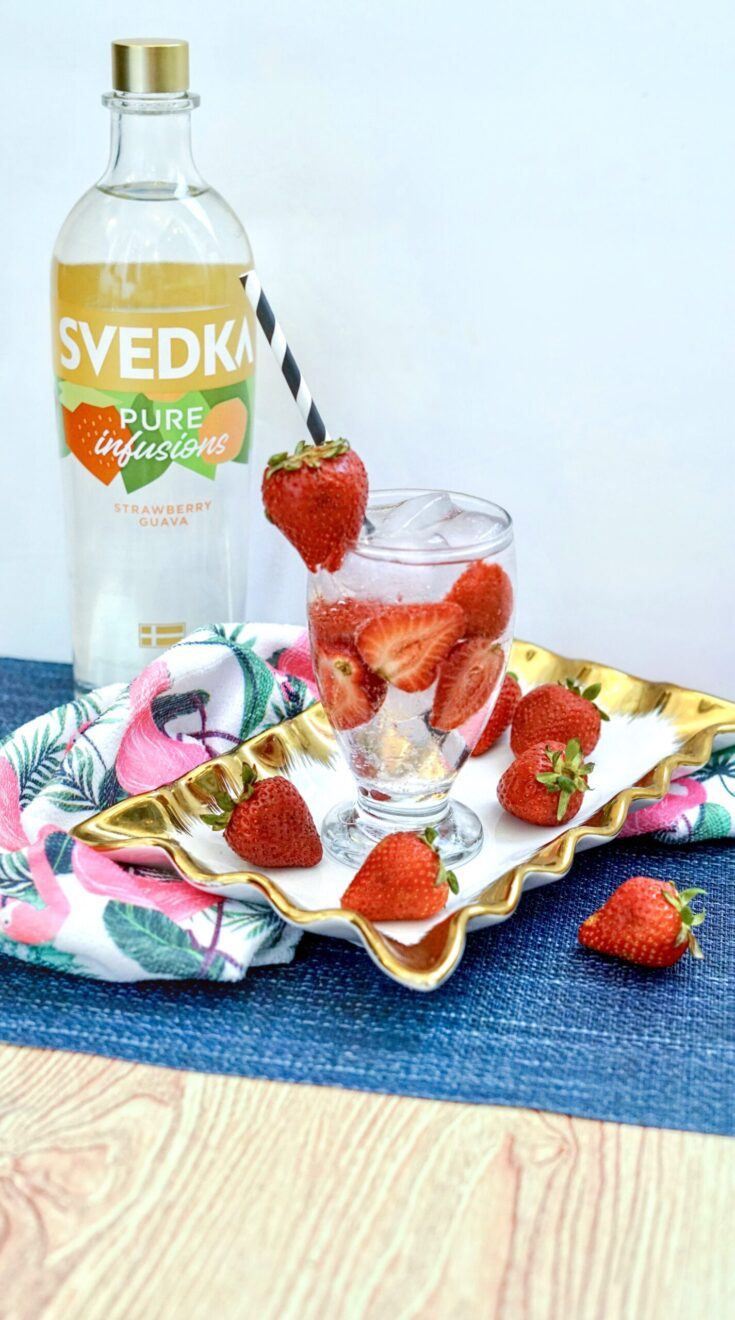 svedka strawberry vodka spiked seltzer