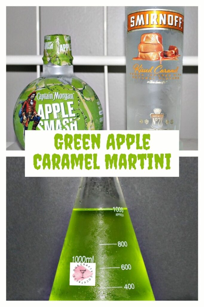 green apple caramel martini