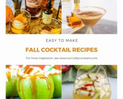 fall cocktails pin