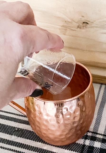 shot poured in mule mug