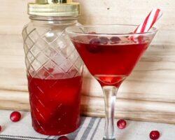 Christmas cranberry martini