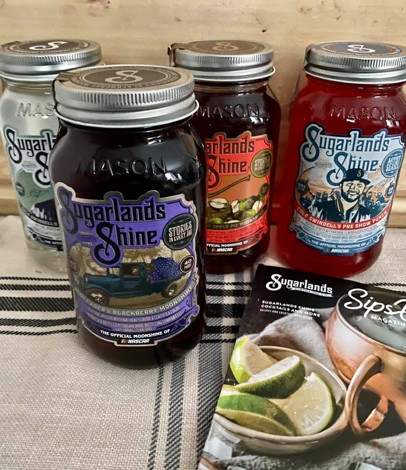 picture of 4 jars of moonshine