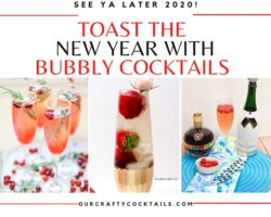 bubbly new year's eve cocktails