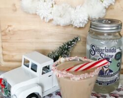 white truck with peppermint white russian