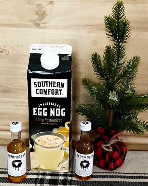 Peanut butter whiskey spiked eggnog