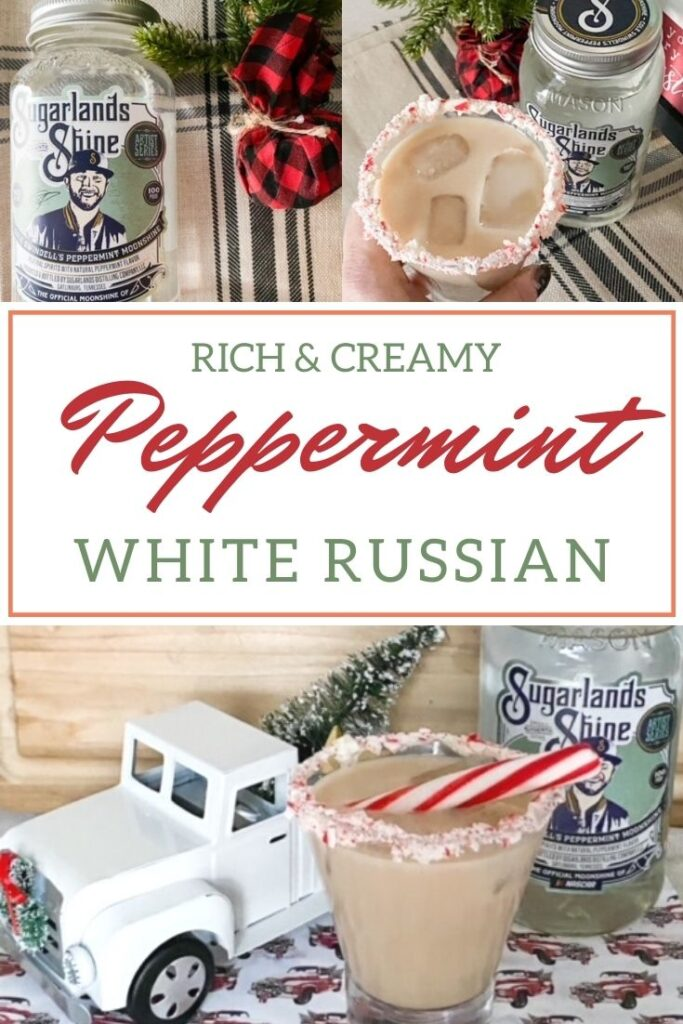 peppermint white russian with moonshine
