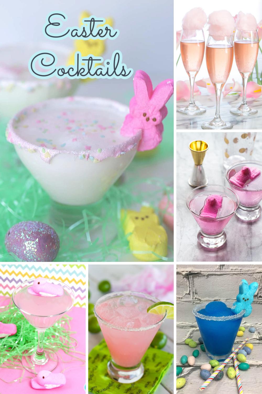 Easter cocktails collage