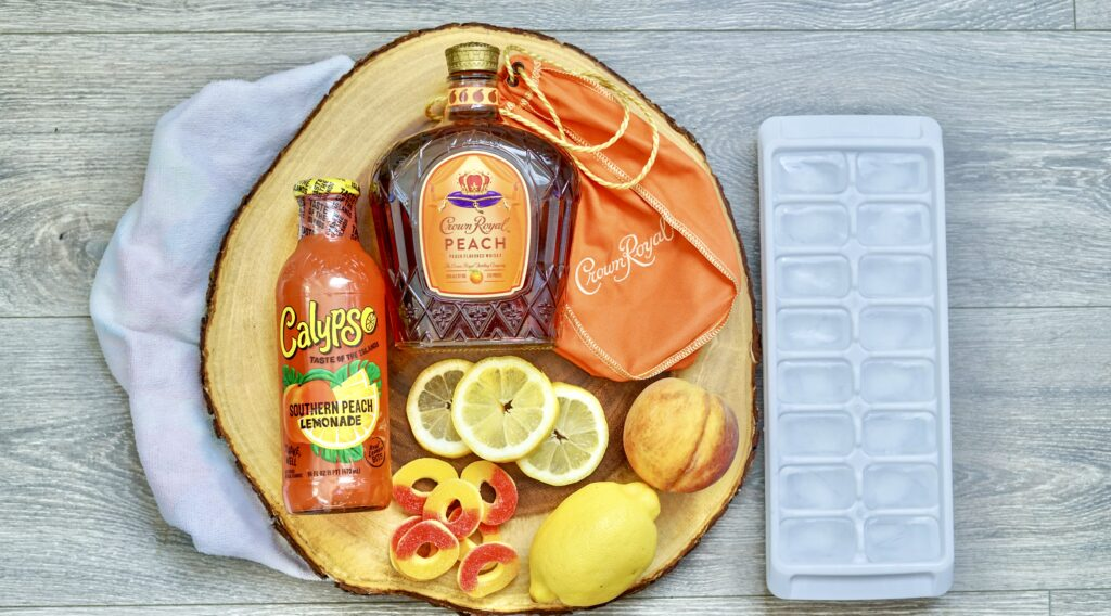 crown royal peach whiskey fish bowl cocktail supplies