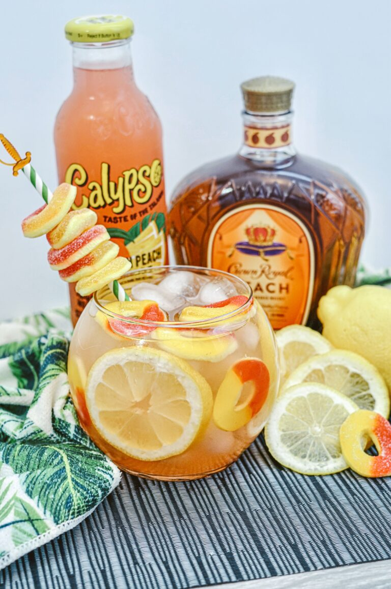 Crown Royal Peach Whiskey Fish Bowl Drink Recipe