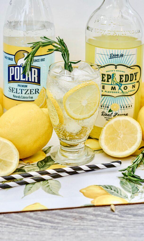 close up of Deep Eddy Lemonade Vodka Spritzer