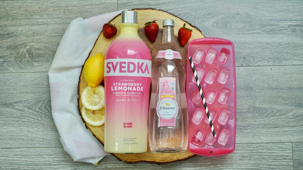Strawberry Vodka Lemonade ingredients