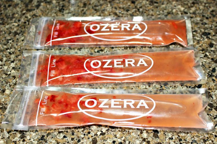 Strawberry Banana Vodka in freeze pops