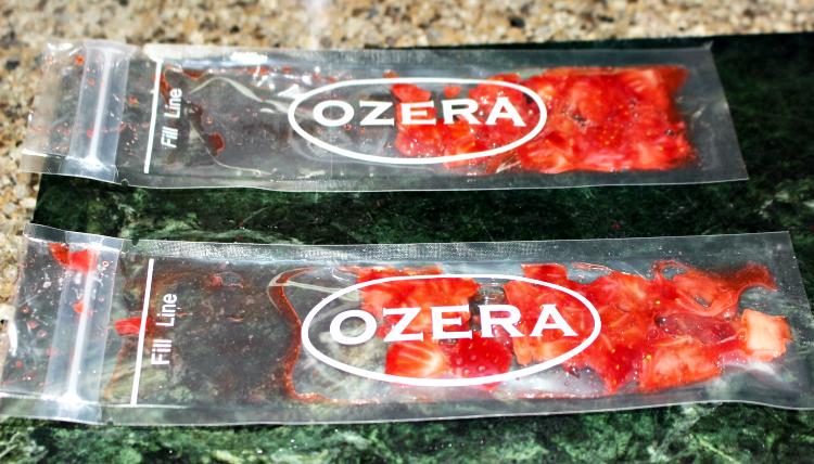 strawberries in freeze pop bags