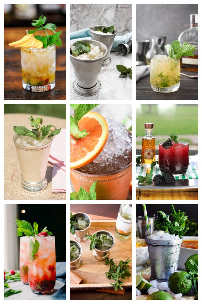 23 Kentucky Derby Mint Julep Cocktails, Mocktails, Sugar-Free Versions