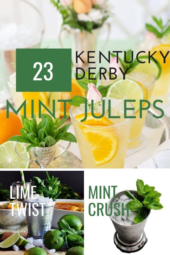 Kentucky Derby Mint Juleps pin image with text overlay