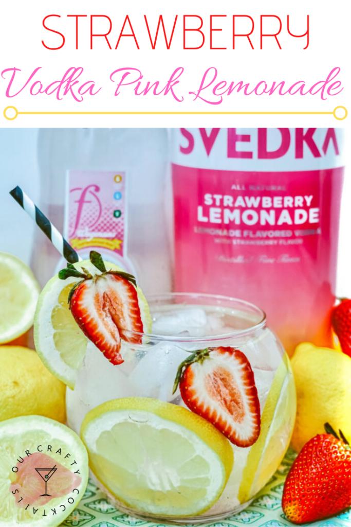 Strawberry Vodka Pink Lemonade Pin image