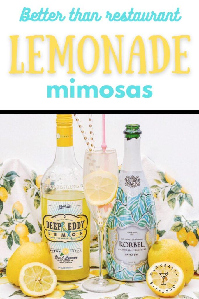 spiked lemonade mimosa pin image