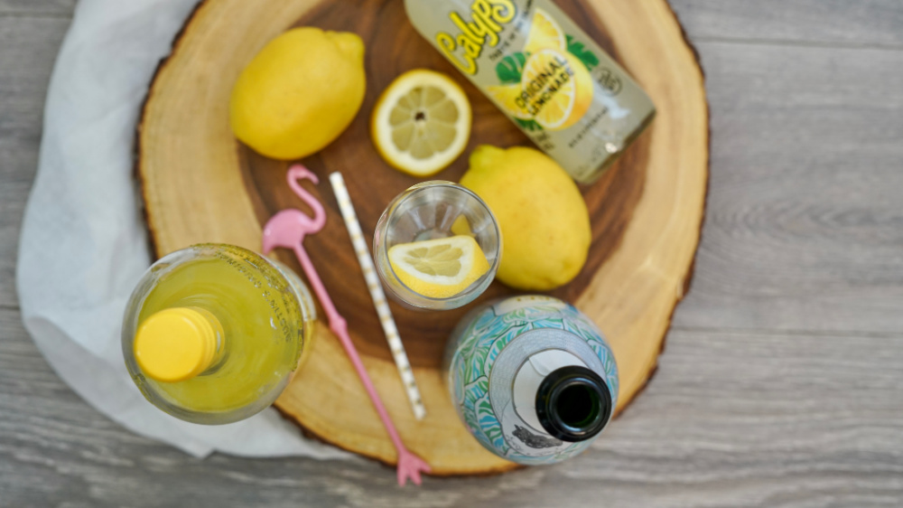 supplies for spiked lemonade