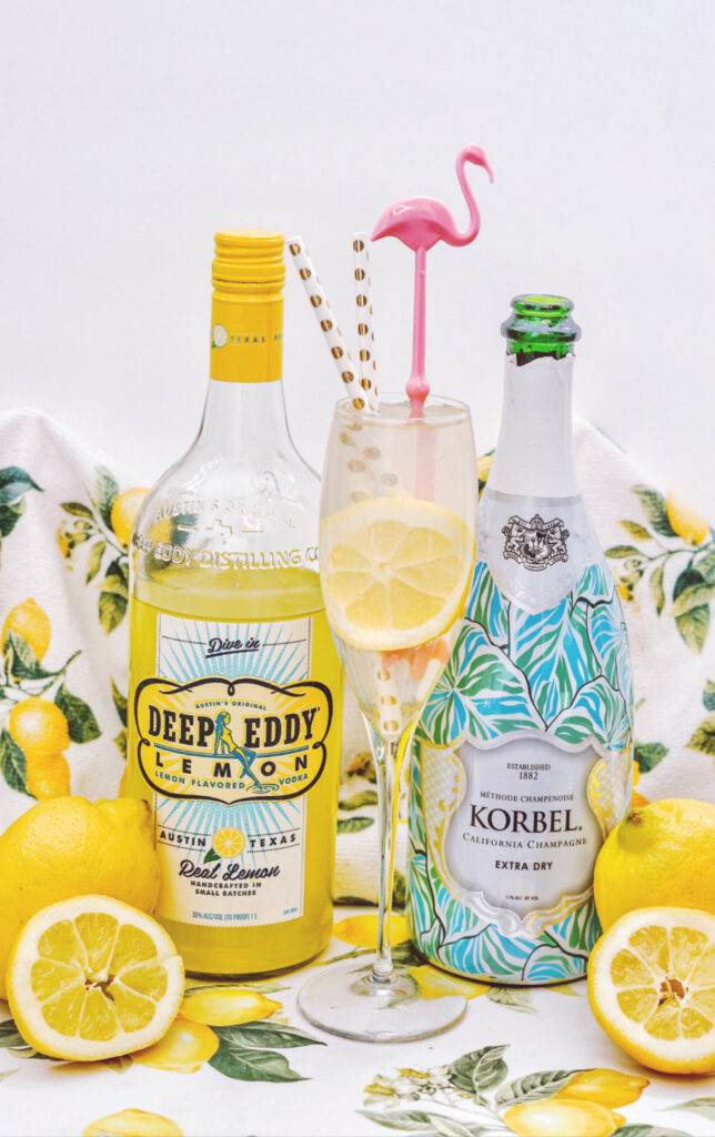 How To Make A Refreshing Spiked Lemonade Mimosa vertical
