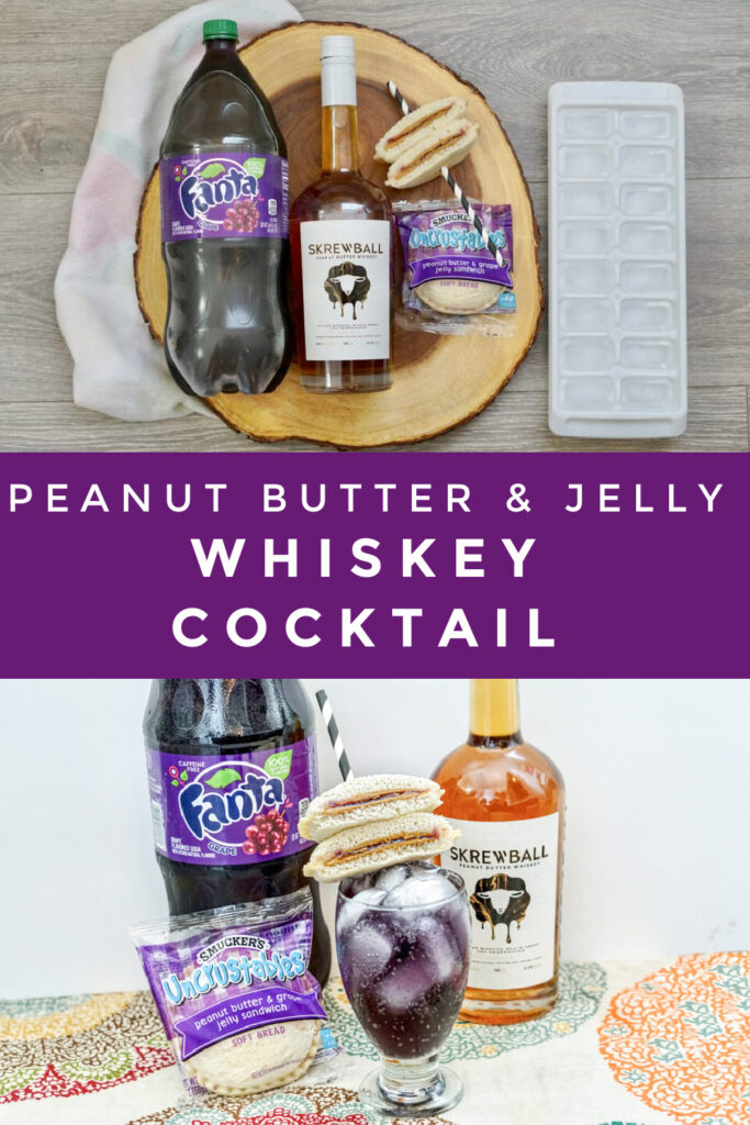 Skrewball Peanut Butter & Jelly Whiskey Cocktail pin image