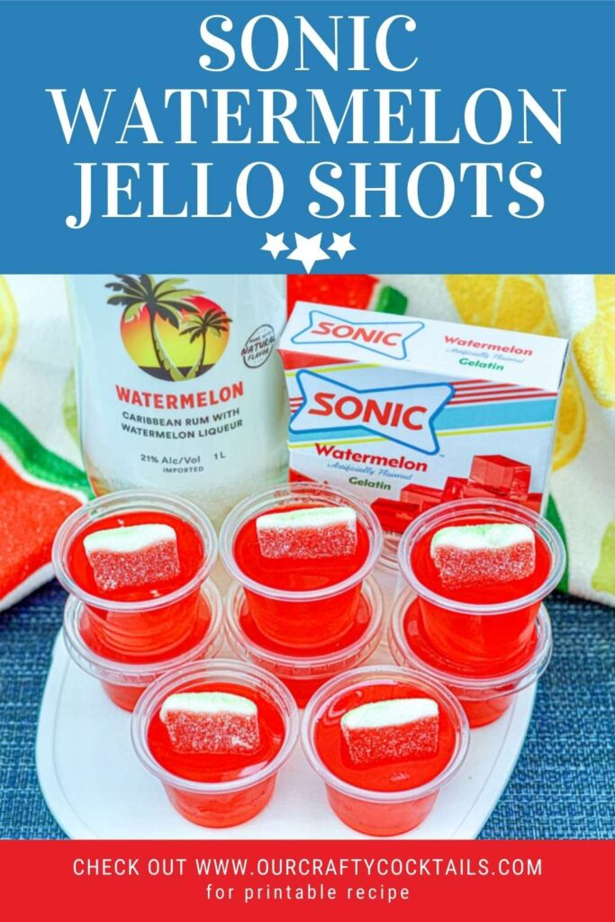 sonic watermelon jello shots pin image with text