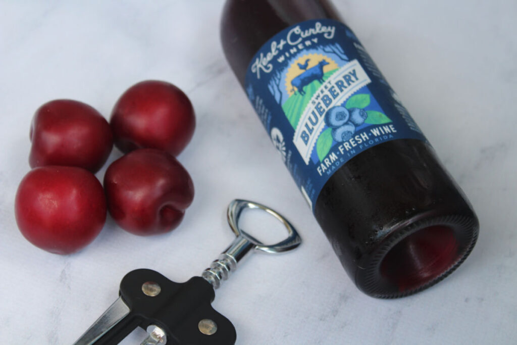 Blueberry Plum Wine Slushies ingredients