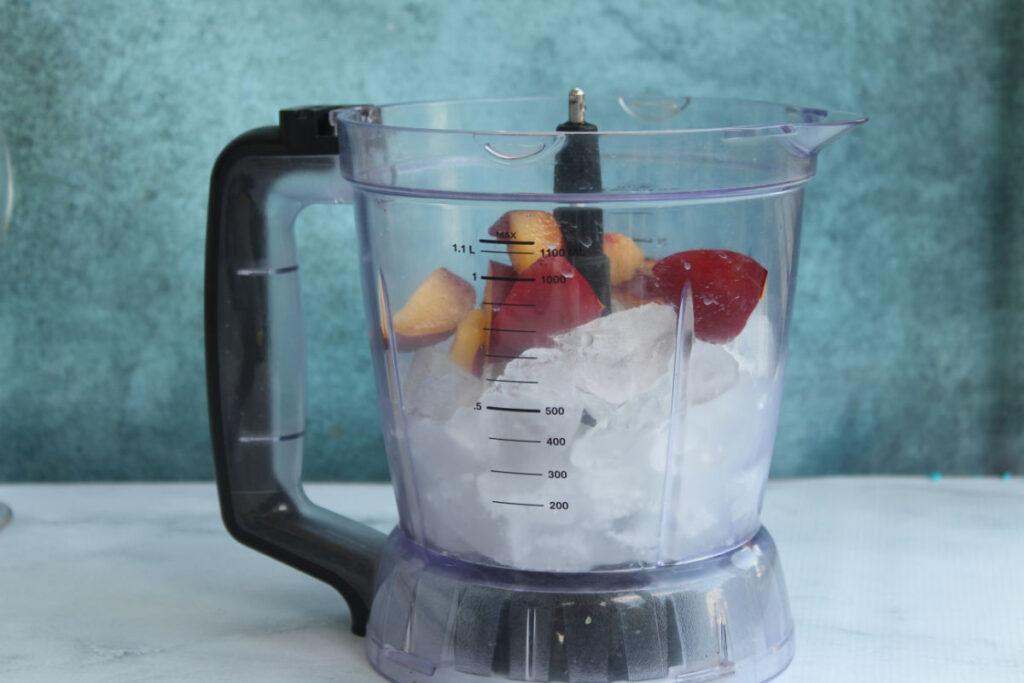 Blueberry Plum Wine Slushies in pitcher