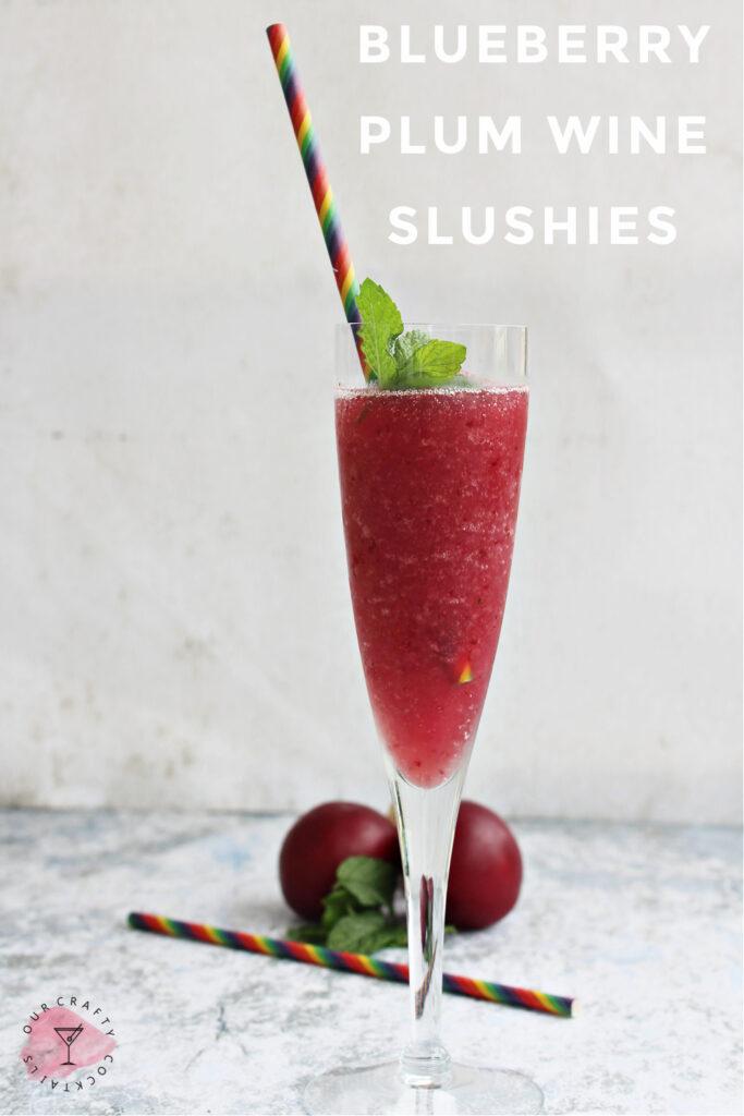 Blueberry Plum Wine Slushies