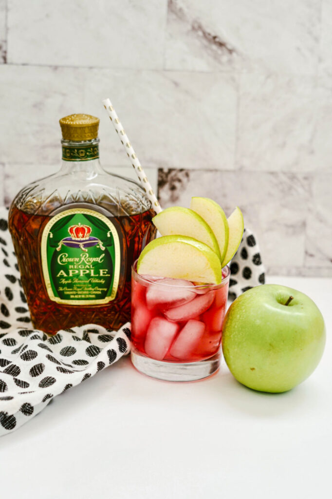 finished crown royal apple cocktail