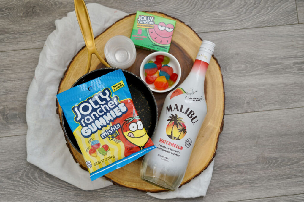 supplies for jolly rancher watermelon jello shots