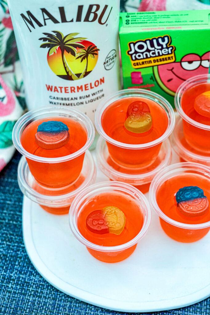 malibu watermelon jello shots