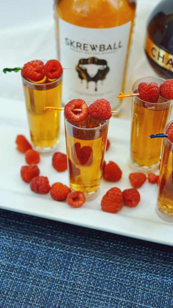 Peanut Butter & Jelly Shots with Skrewball Whiskey
