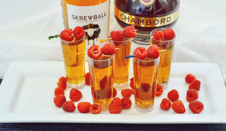 Tasty Peanut Butter & Jelly Shots with Skrewball Whiskey