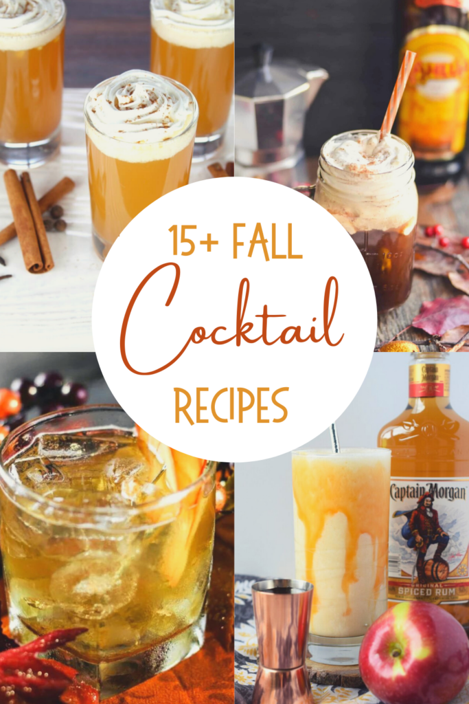 fall cocktail recipes pin collage