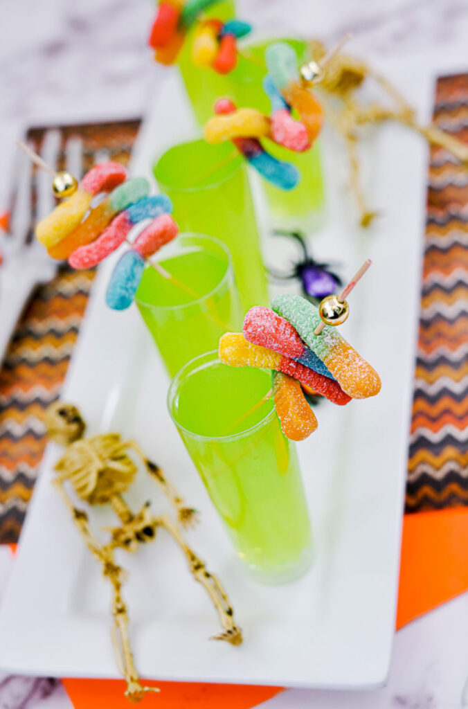 Halloween shooters with coconut rum