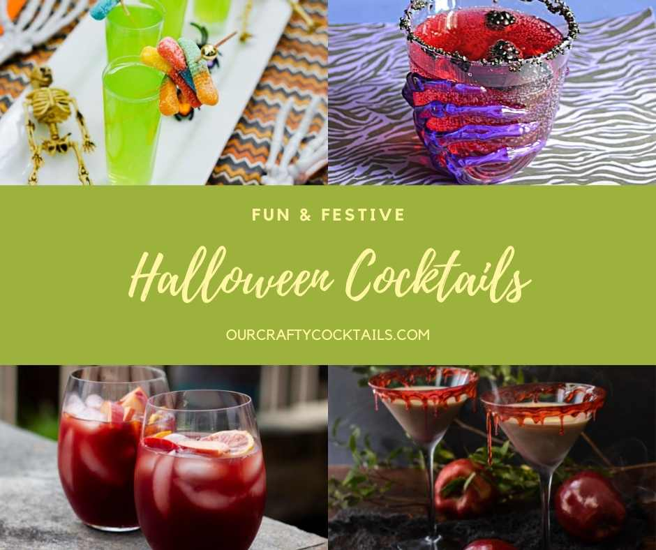Halloween cocktails pin image